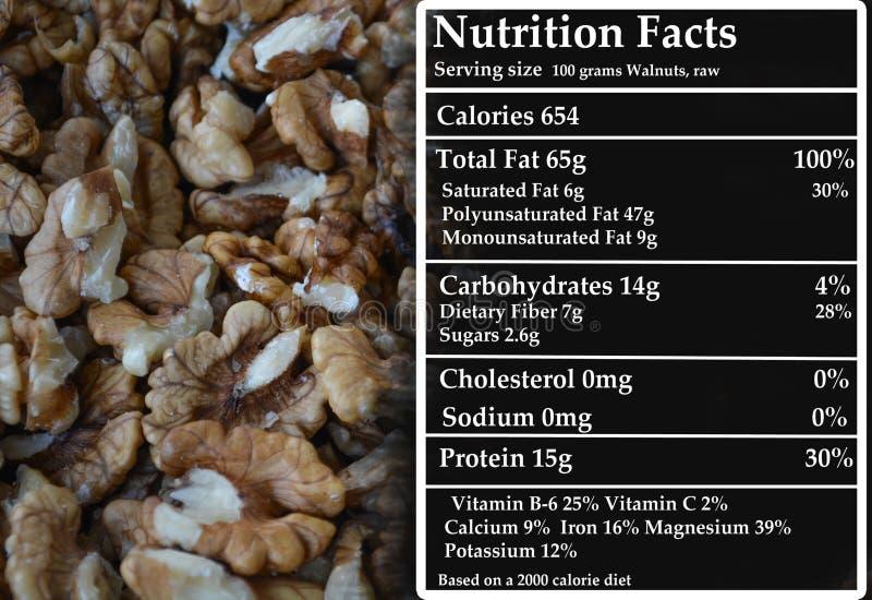 Noix - nutrition photos libres de droits
