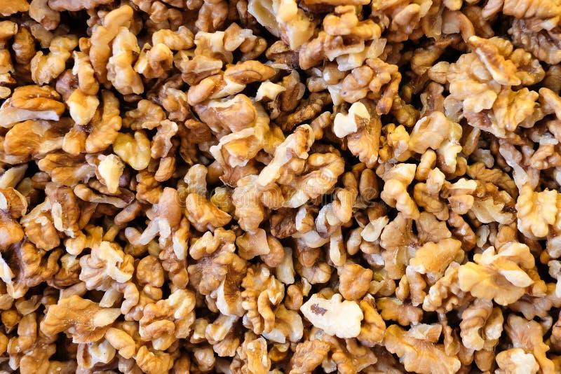 Noix sur le plan rapproché de marché d'épice Modèle de noix végétarien photographie stock libre de droits