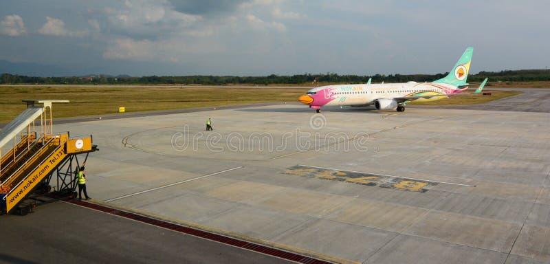 Nok空中飞机在Trang机场 泰国 图库摄影