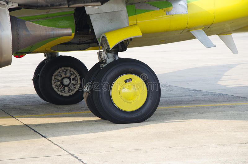 Nok Air's checking. Nok Air air plane's prepare to fly from Bangkok to Ubon on 6 march 2015 stock images