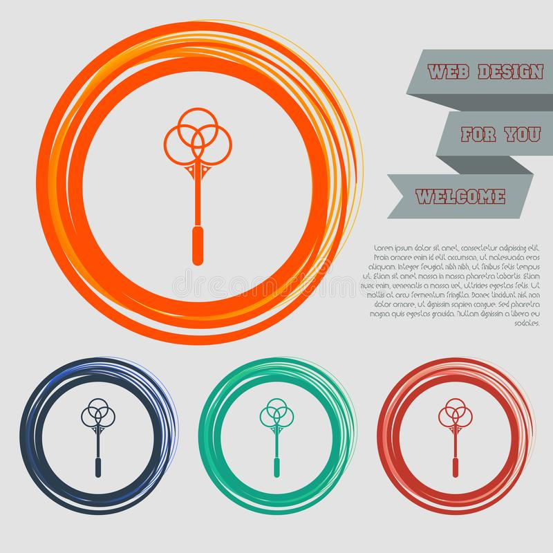 Nokaut dla dywan ikony na czerwonym, błękitny, zielony, pomarańcze zapina dla twój projekta z astronautycznym tekstem i strony in ilustracji