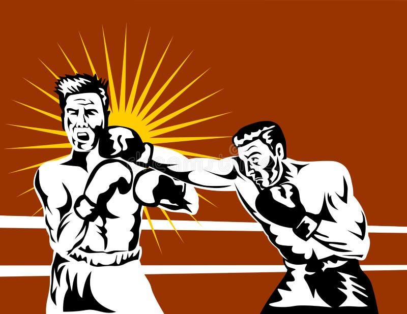 nokaut złączony boksera royalty ilustracja