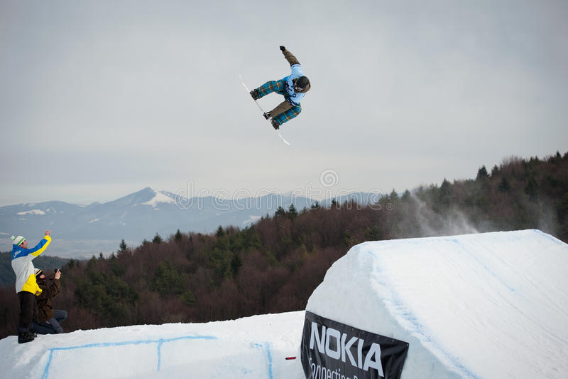 Nokia-Freistil-Ausflug 2011 in Valca, Slowakei lizenzfreie stockfotografie