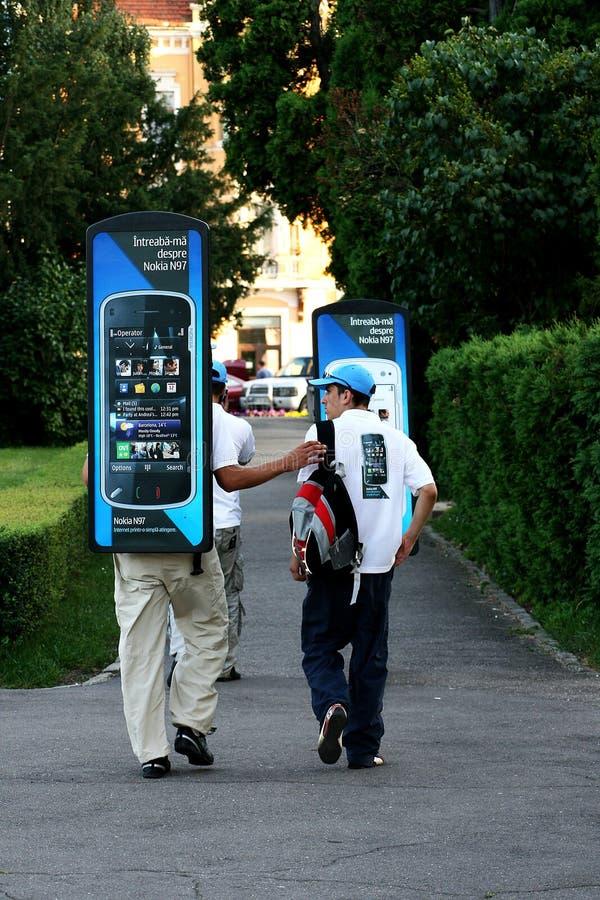 Nokia-Handywerbung stockbild