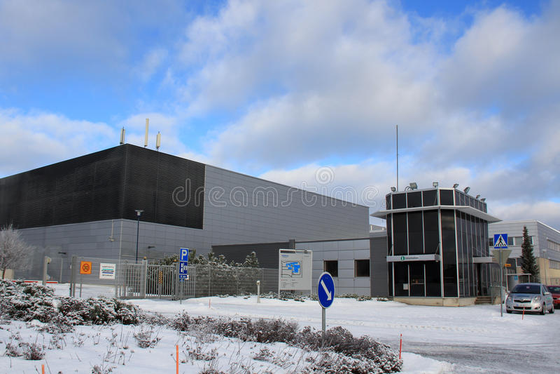 Nokia plant in Salo, Finland. SALO, FINLAND - CIRCA FEB, 2013: Information at Nokia plant in Salo, Finland circa Feb 2013. EC grants Finland with €5.3m royalty free stock photo