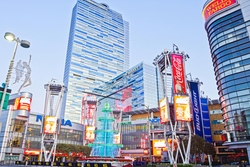 Download Nokia Plaza At LA Live In Los Angeles Editorial Photography - Image of nokia, theater: 22573807