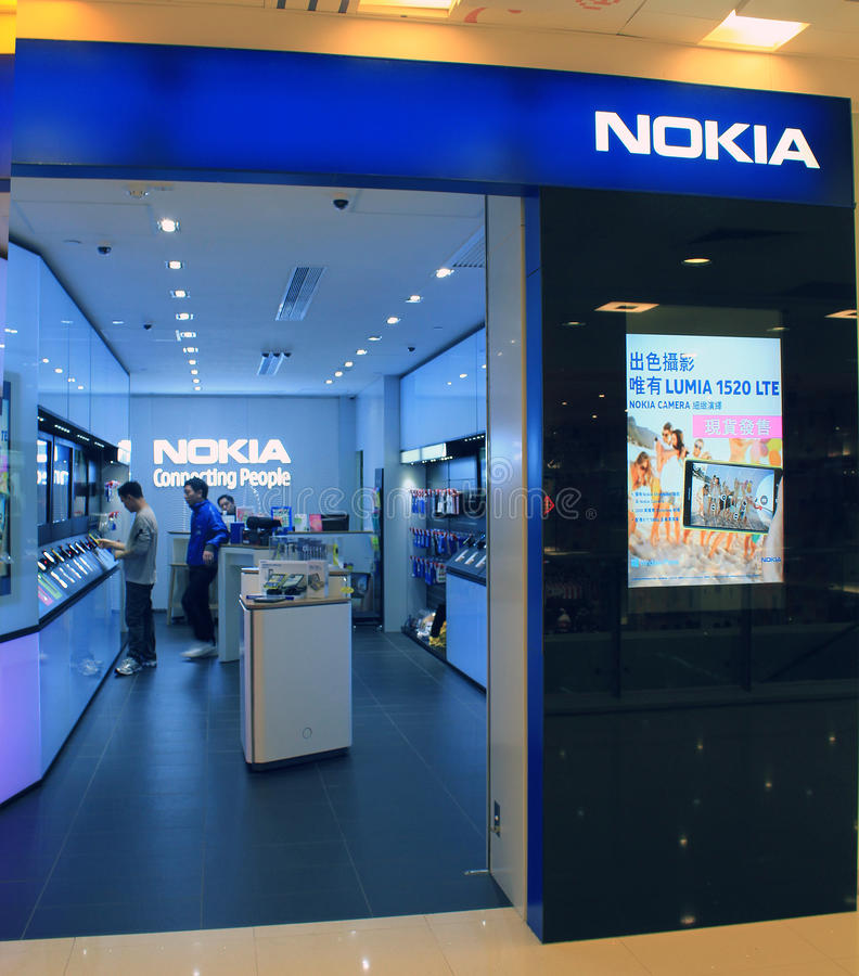 Nokia shop in hong kong stock photos