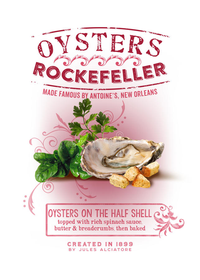 NOLA Collection Oysters Rockefeller Background royaltyfri bild