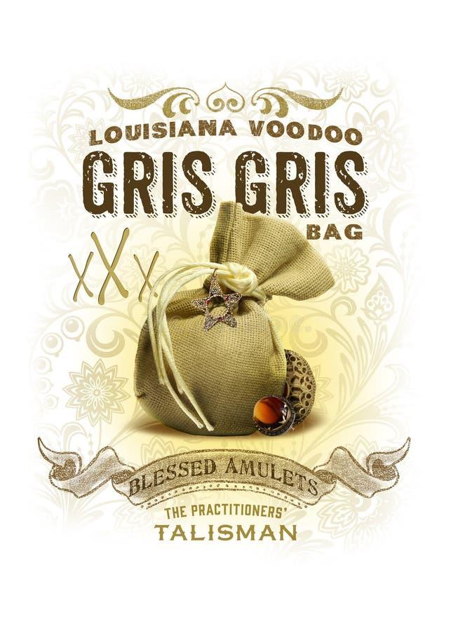 NOLA Luizjana wudu Gris Gris torby Inkasowy tło zdjęcie royalty free