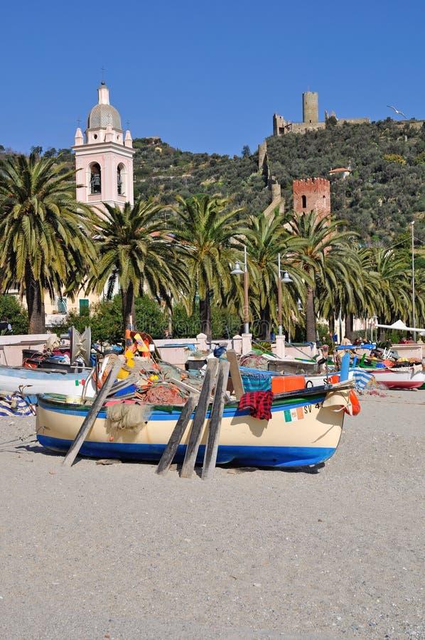Noli, Riviera Ligure, Italia immagini stock libere da diritti