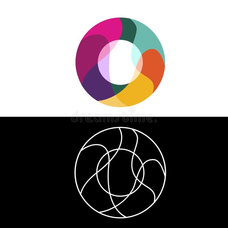 Nolla-bokstavslogo, symbol, vektordesignmall royaltyfri illustrationer