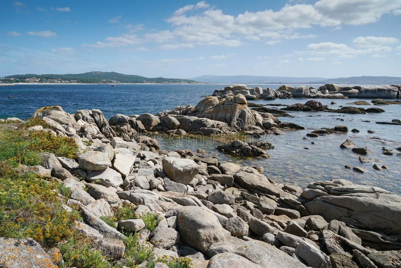 Nolla-dunge, Galicia, Spanien royaltyfri foto