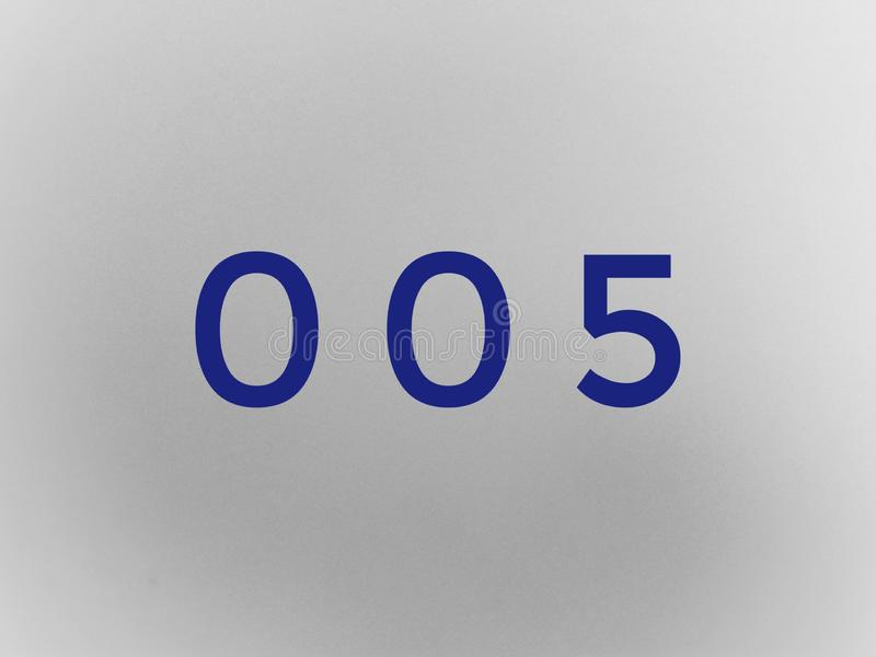 Nollnollen bokstav för stilsort för nummersifframatematik royaltyfria bilder