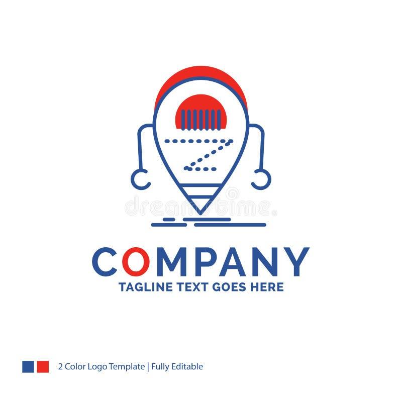 Nom de la société Logo Design For Android, bêta, droid, robot, techno illustration de vecteur