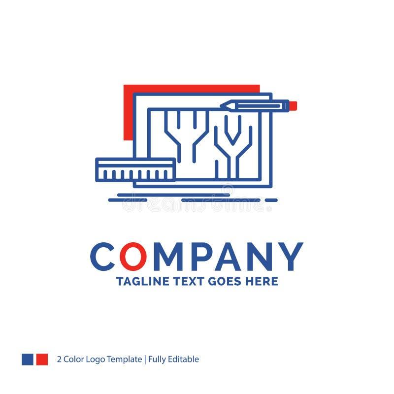 Nom de la société Logo Design For Architecture, modèle, circuit, d illustration libre de droits