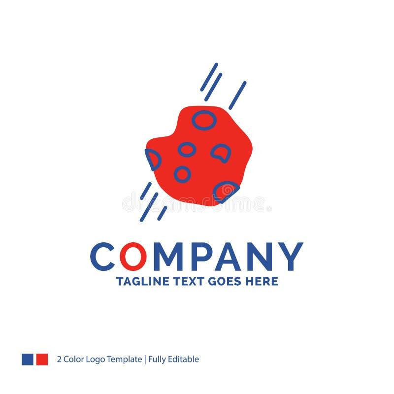 Nom de la société Logo Design For Asteroid, astronomie, météore, l'espace illustration stock