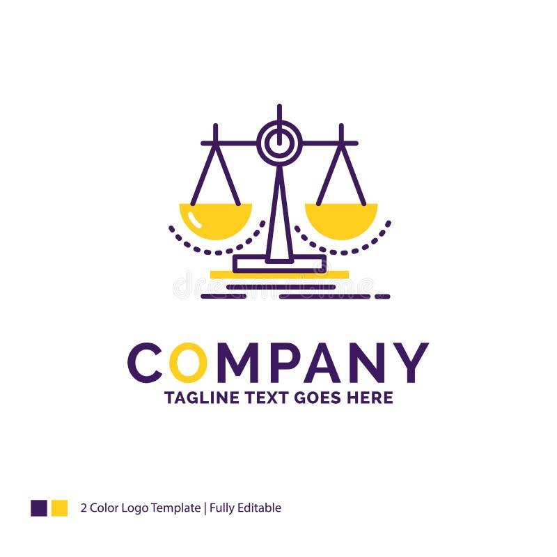 Nom de la société Logo Design For Balance, décision, justice, loi, Sc illustration libre de droits
