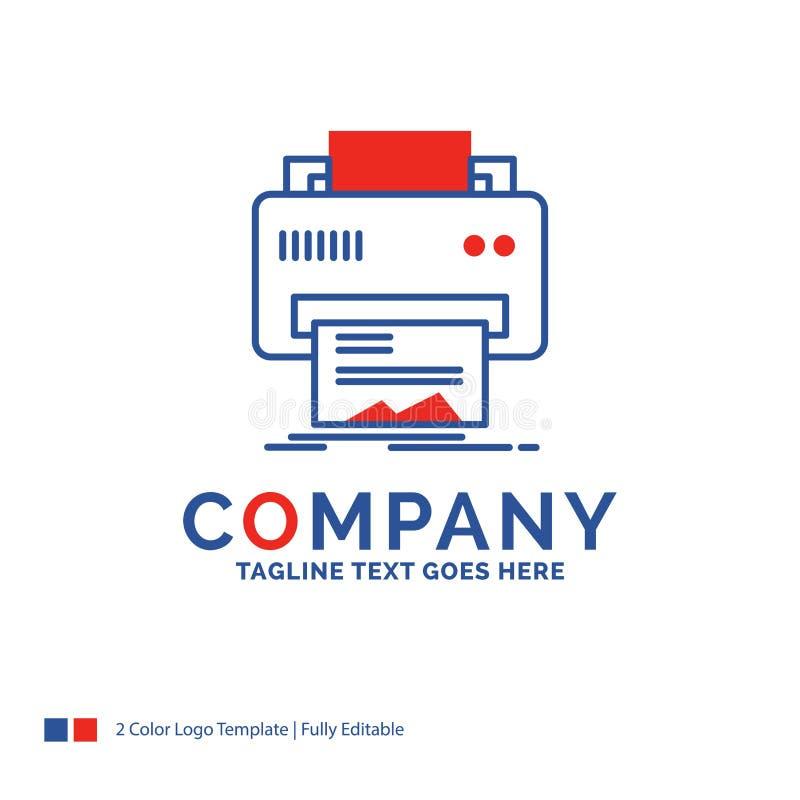 Nom de la société Logo Design For Digital, imprimante, impression, hardwar illustration libre de droits