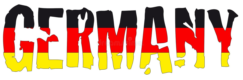 Nom et indicateur de l'Allemagne illustration stock