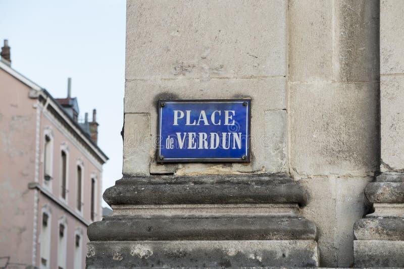 Nom français de route photo libre de droits