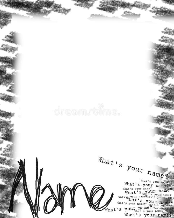 Nom produit (ce qui est votre nom ?) illustration libre de droits