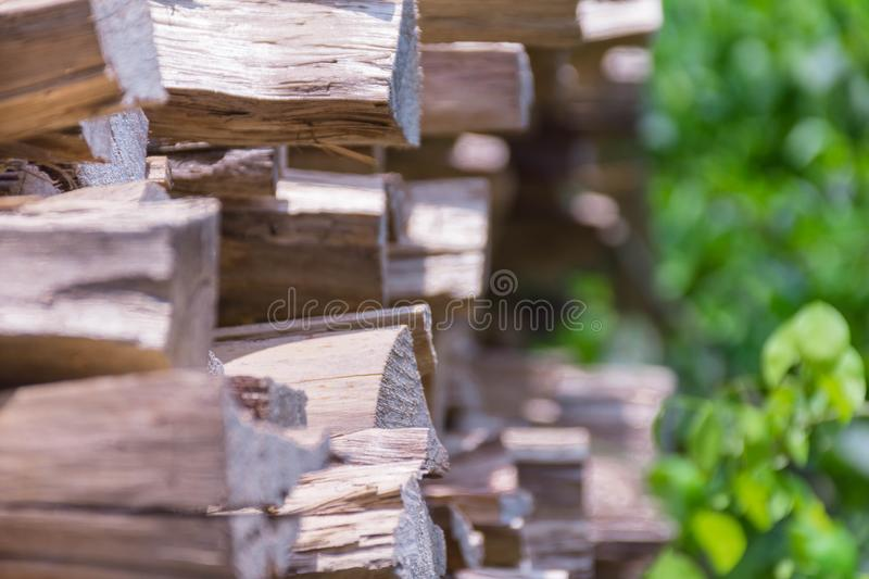 Large firewood logs suitable for background images royalty free stock photos