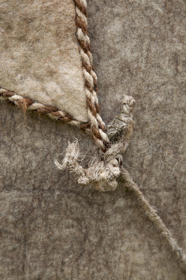 Download Nomad Yurt Detail - Thick Felt Background And Rope Stock Photo - Image: 19973742