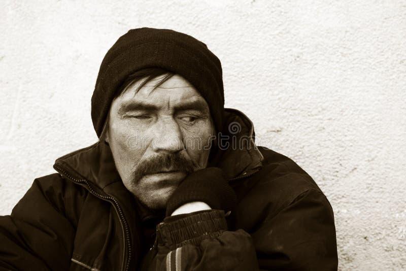 Nomade nella depressione. fotografie stock