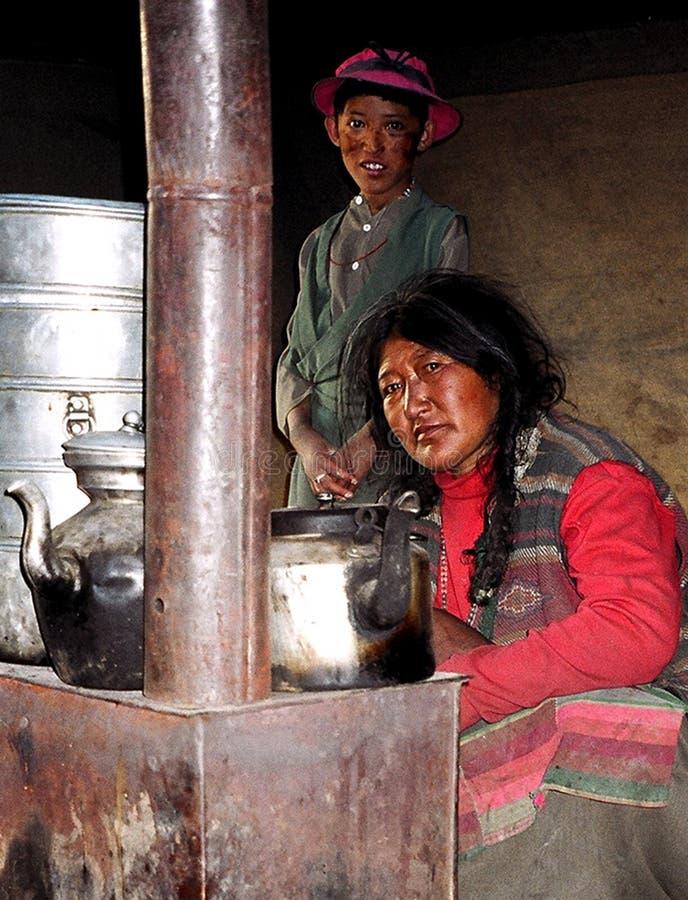 Nomader i Ladakh, Indien royaltyfri foto