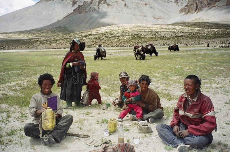 Nomader i Ladakh, Indien royaltyfria foton