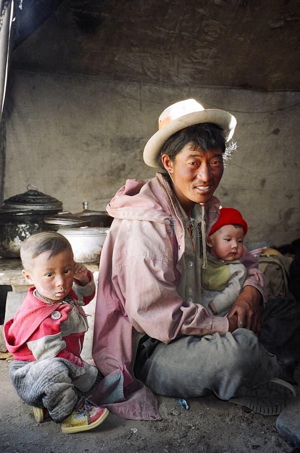 Nomades dans Ladakh, Inde photo stock
