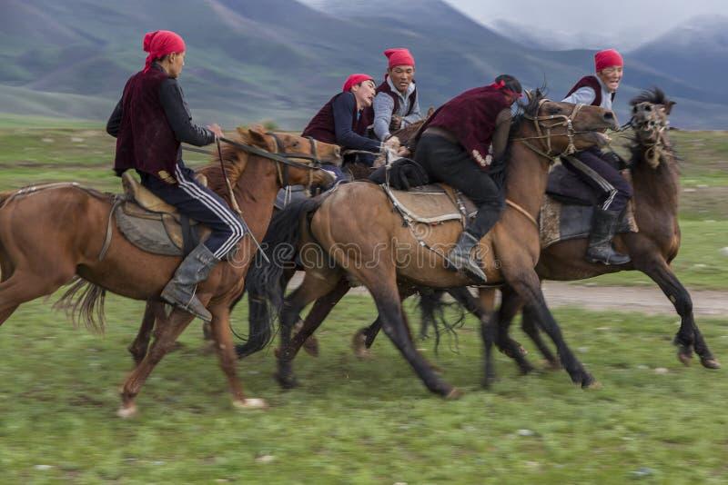 Nomadic horse games. stock photos