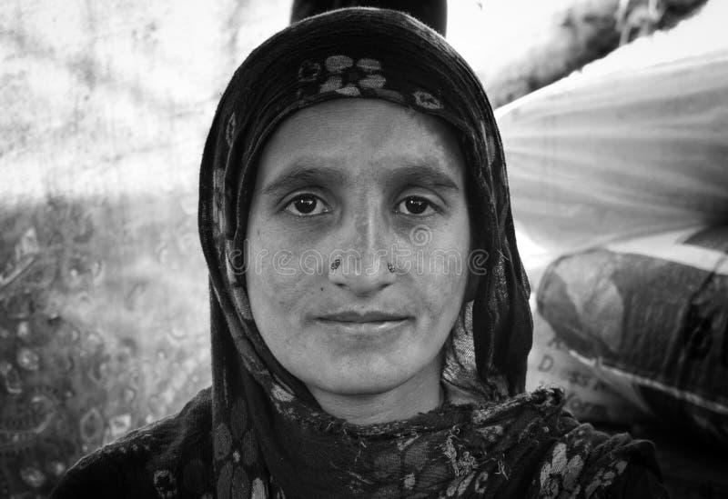 Nomadische Frauen stockbild