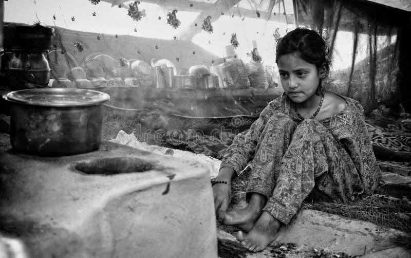 Nomadisches Mädchen lizenzfreie stockbilder
