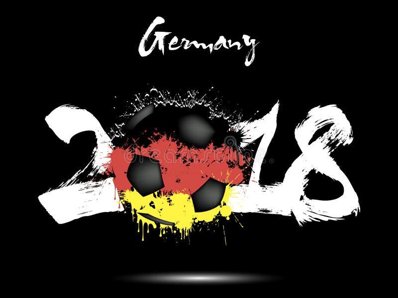 Nombre abstrait 2018 et tache de ballon de football illustration libre de droits