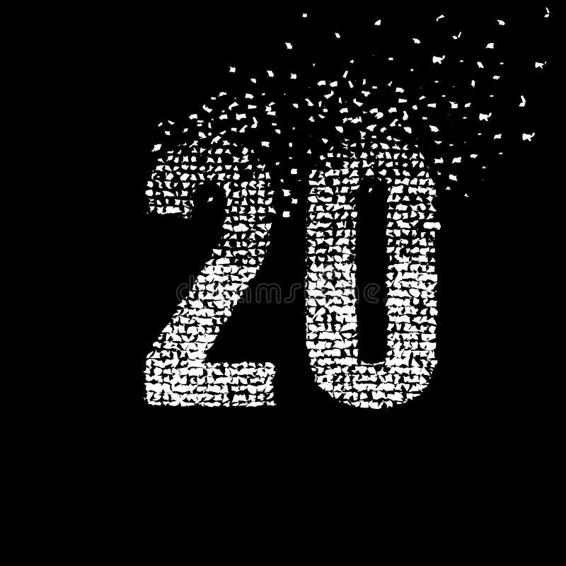 Nombre abstrait 20 Vecteur et illustration illustration de vecteur