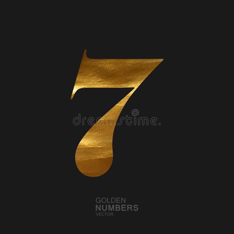 Nombre d'or 7 illustration stock