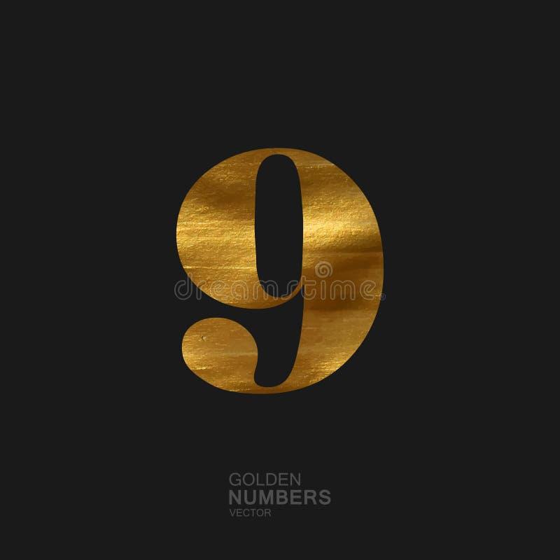 Nombre d'or 9 illustration de vecteur