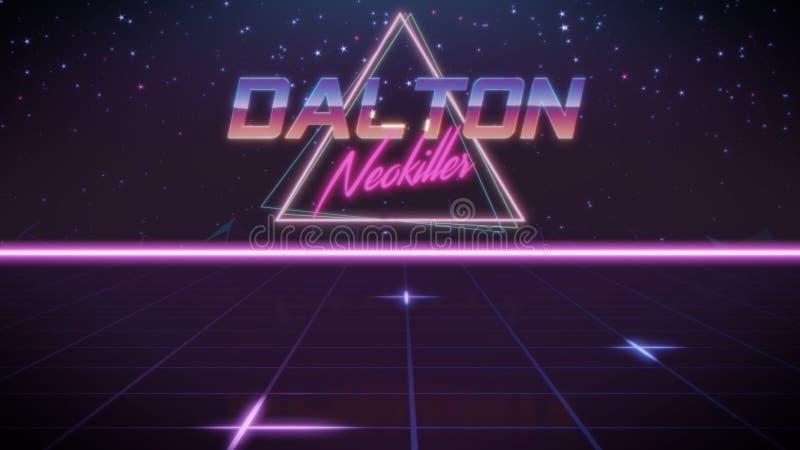 nombre Dalton en estilo del synthwave libre illustration
