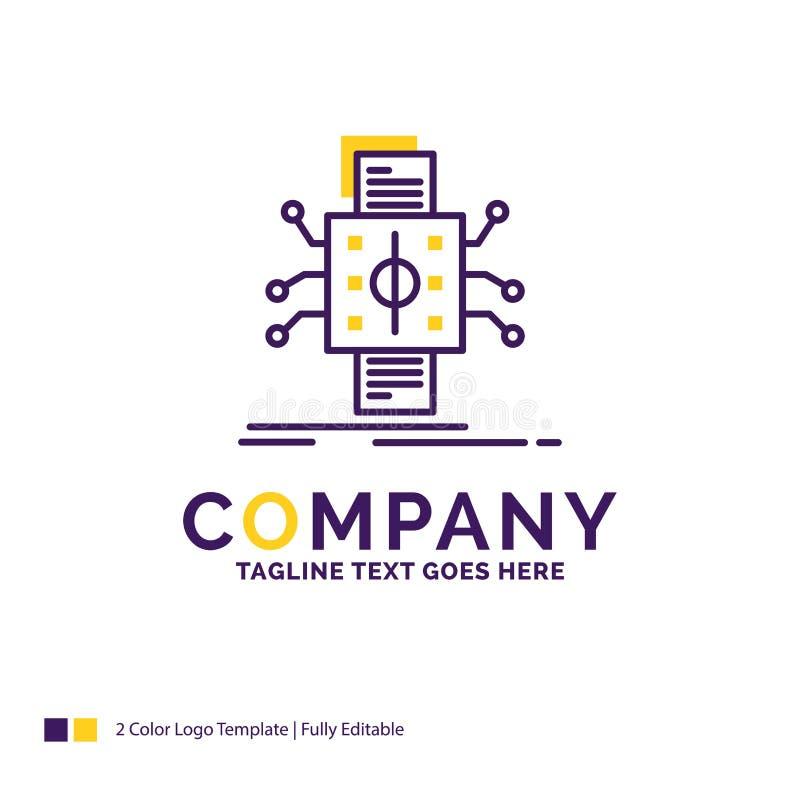 Nombre de compañía Logo Design For Analysis, datos, dato, procesando stock de ilustración