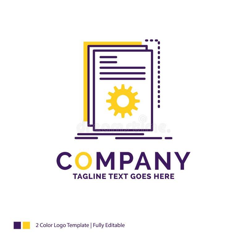 Nombre de compañía Logo Design For App, estructura, desarrollador, programa, SCR stock de ilustración