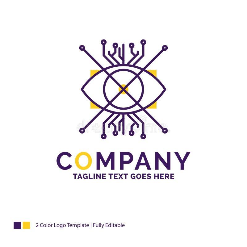 Nombre de compañía Logo Design For Ar, aumento, cibernético, ojo, lente libre illustration