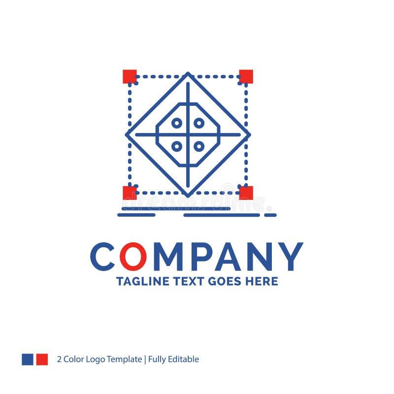 Nombre de compañía Logo Design For Architecture, racimo, rejilla, modelo stock de ilustración