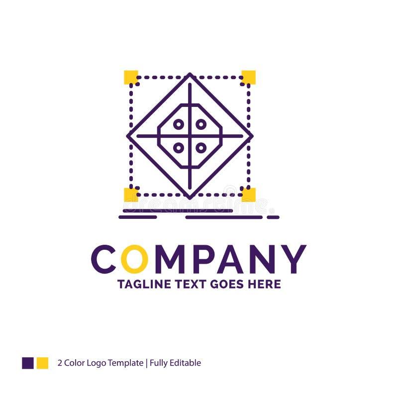 Nombre de compañía Logo Design For Architecture, racimo, rejilla, modelo ilustración del vector