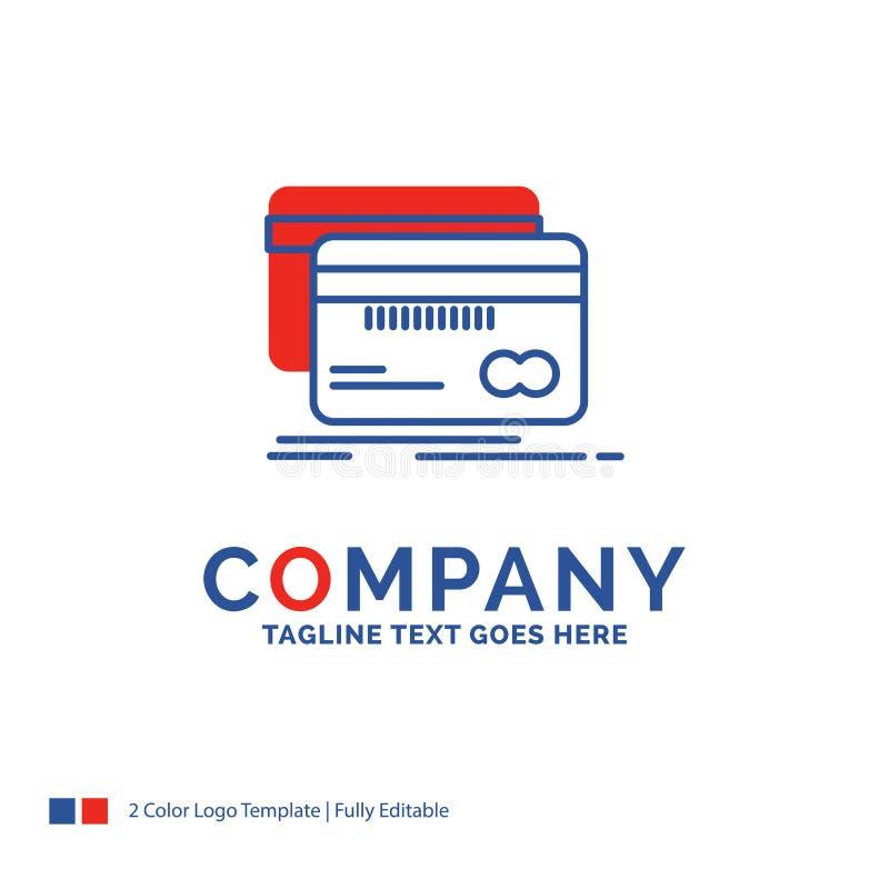 Nombre de compañía Logo Design For Banking, tarjeta, crédito, debe, finan libre illustration