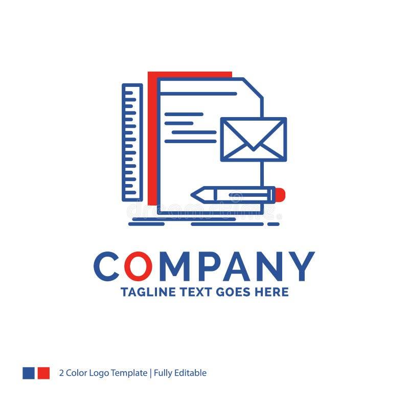 Nombre de compañía Logo Design For Brand, compañía, identidad, letra, p stock de ilustración