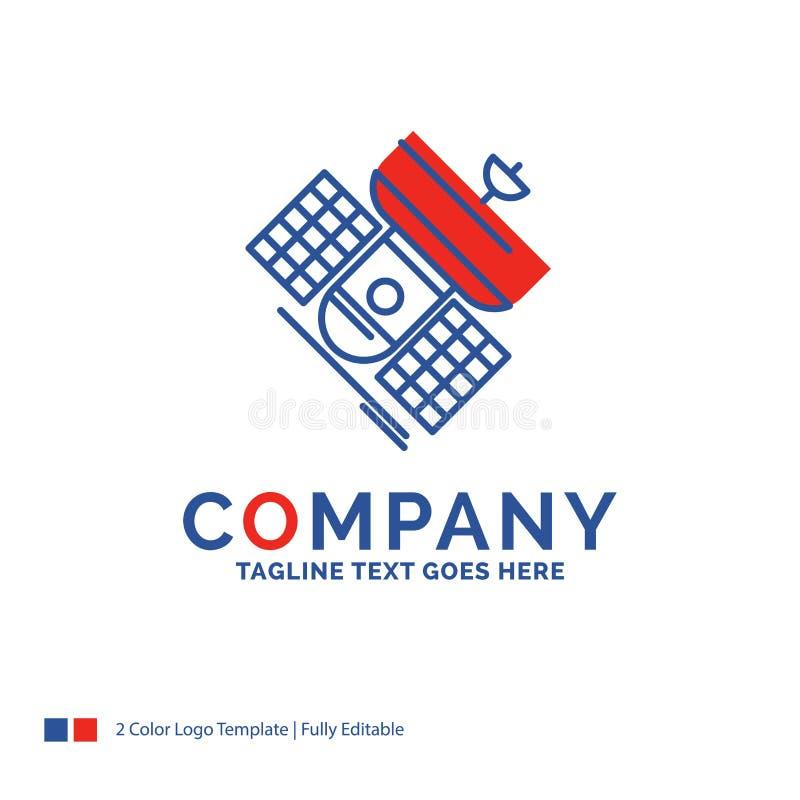 Nombre de compañía Logo Design For Broadcast, difusión, communicat ilustración del vector