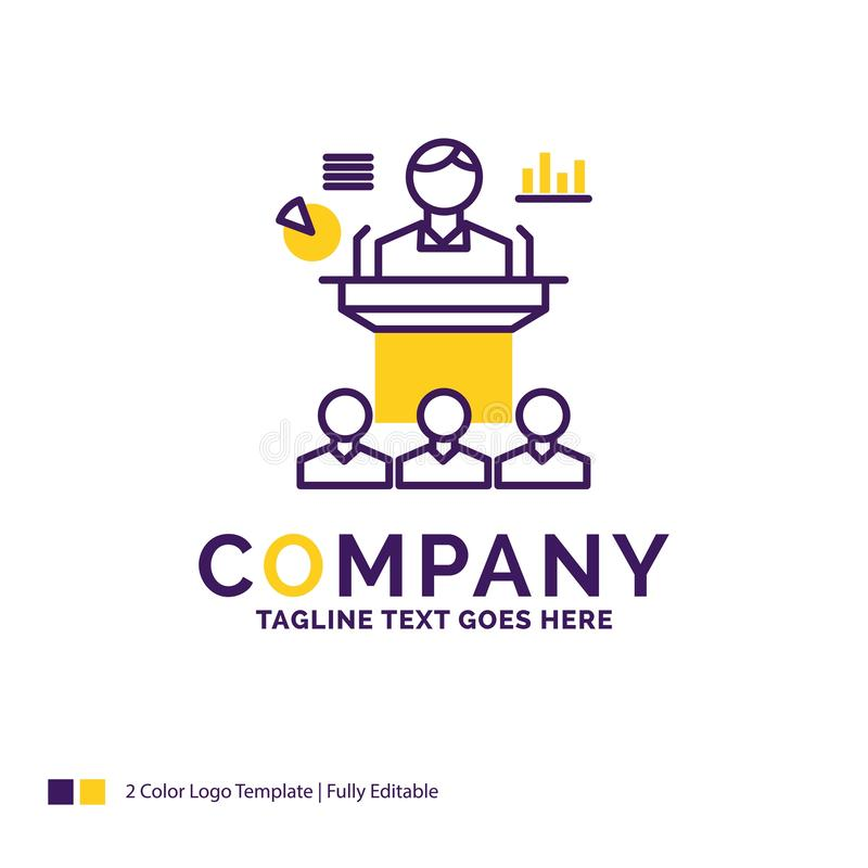 Nombre de compañía Logo Design For Business, conferencia, convenio, p libre illustration