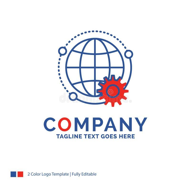 Nombre de compañía Logo Design For conectado, en línea, mundo, globo, MU libre illustration