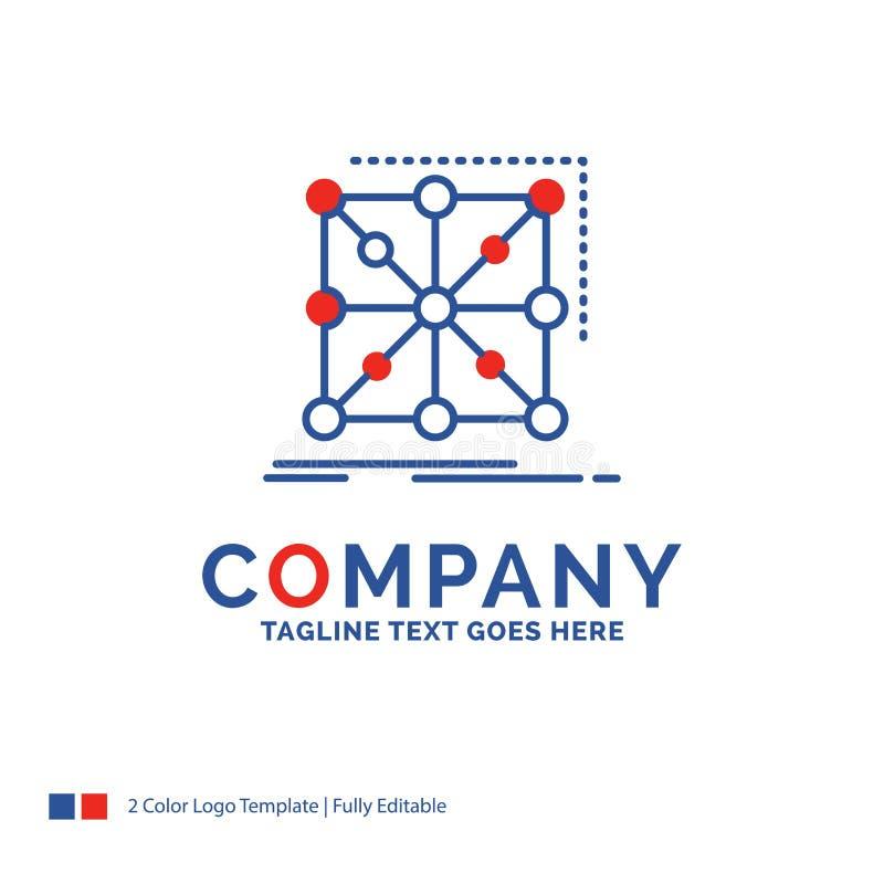 Nombre de compañía Logo Design For Data, marco, App, racimo, comp libre illustration